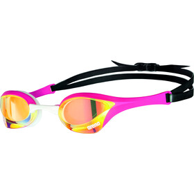 arena Cobra Ultra Swipe Mirror Goggles yellow copper/pink